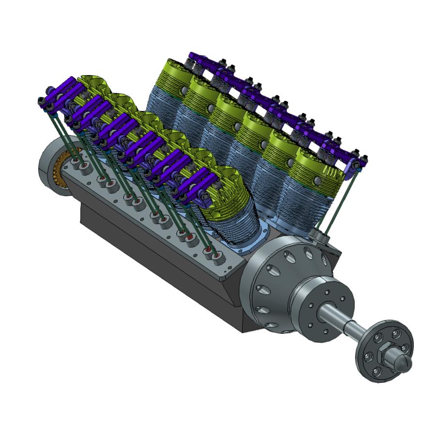 V型12缸发动机