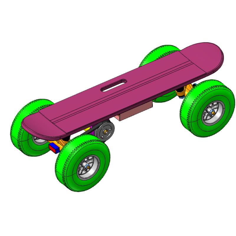 语音电动滑板