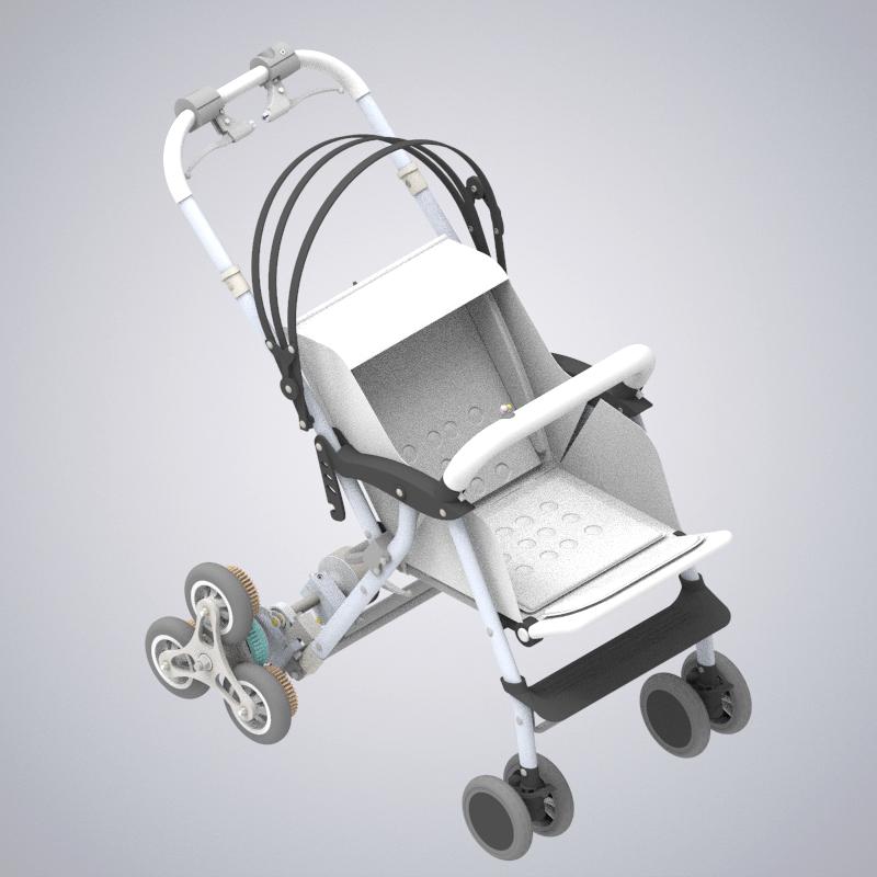 新型爬楼婴儿车