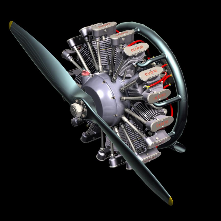 星型发动机9130