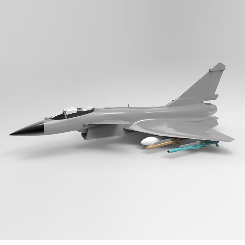 _J10B 歼10B战斗机轮廓线模型+3D图纸