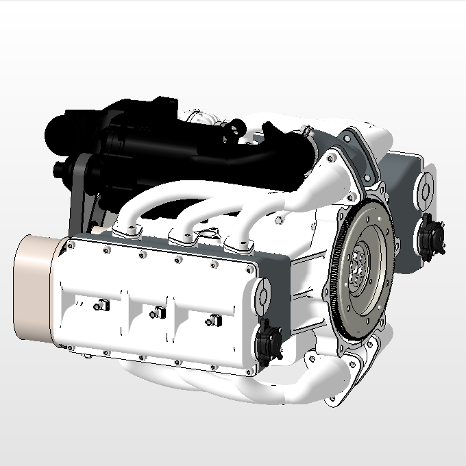 六缸对置气缸发动机