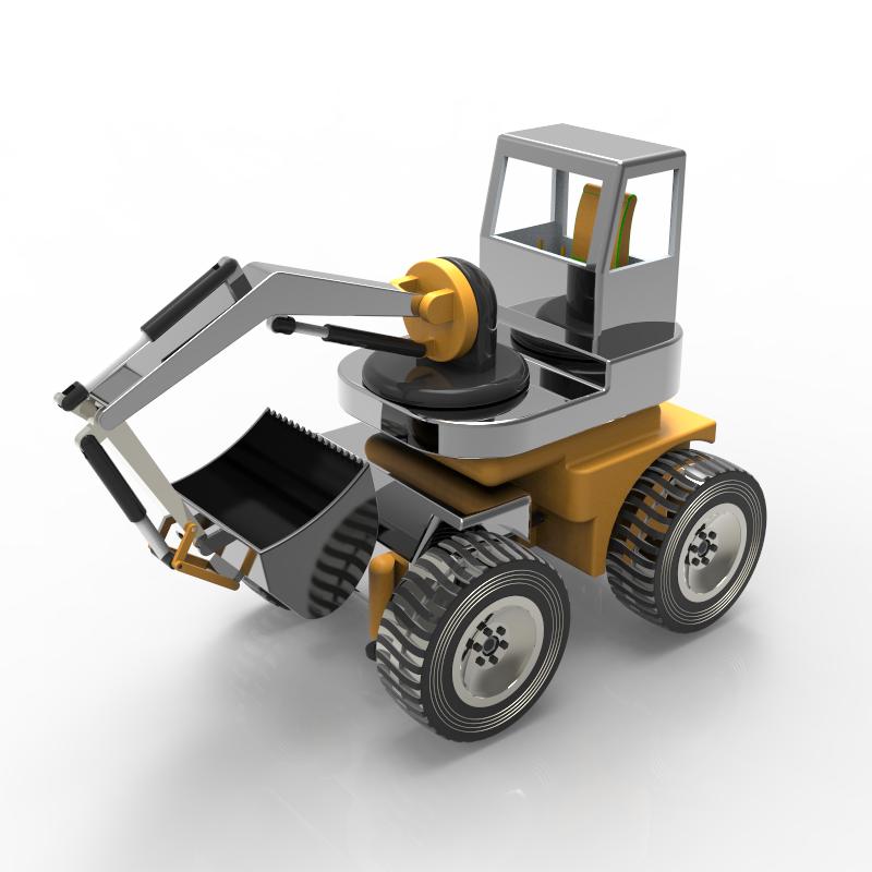 自由旋转式挖掘机