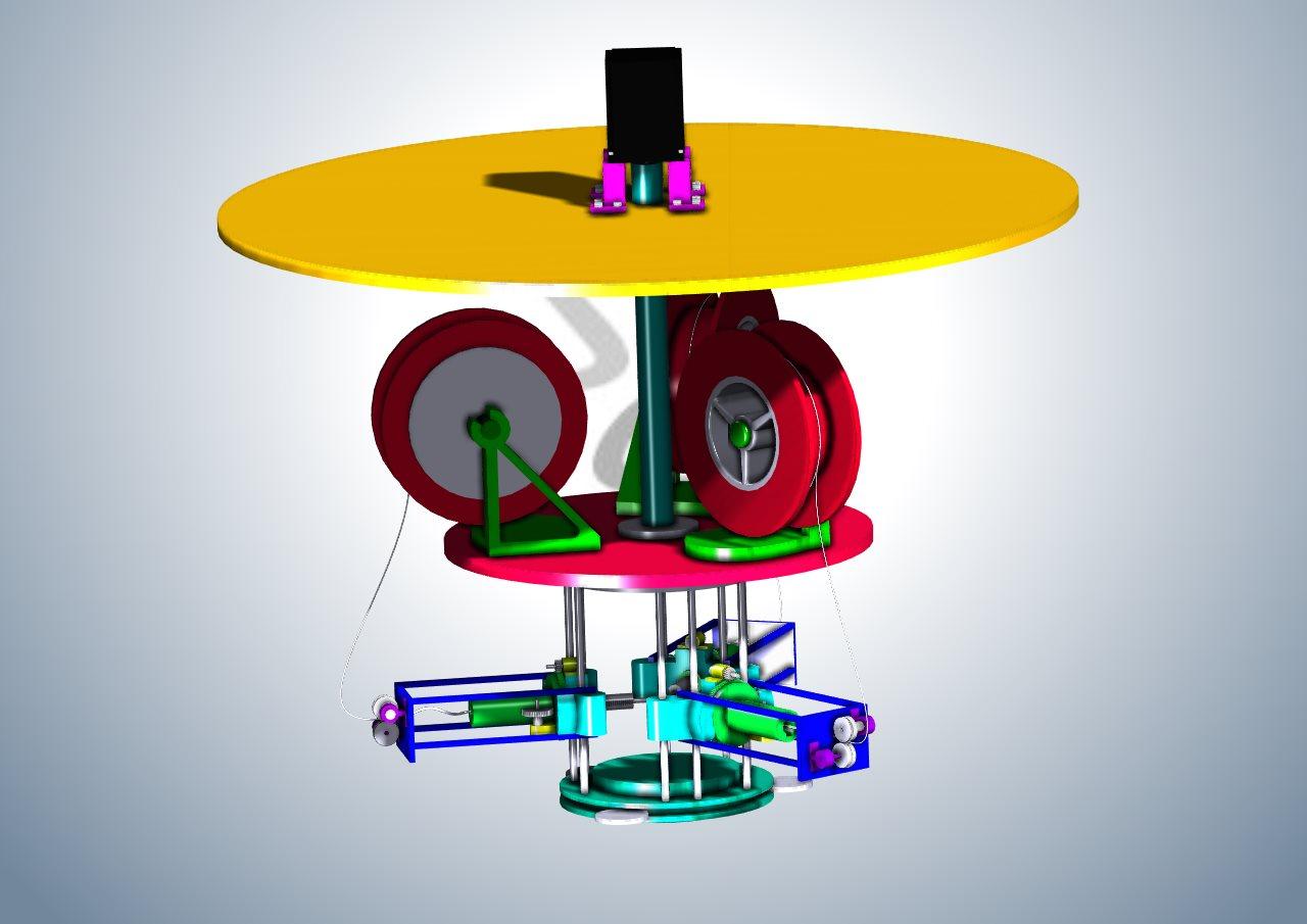 智能回转式3D打印机器人