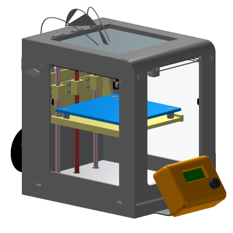 桌面级多材料复合3D打印机