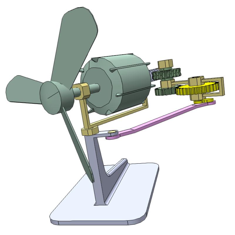 3d风机摆动机构