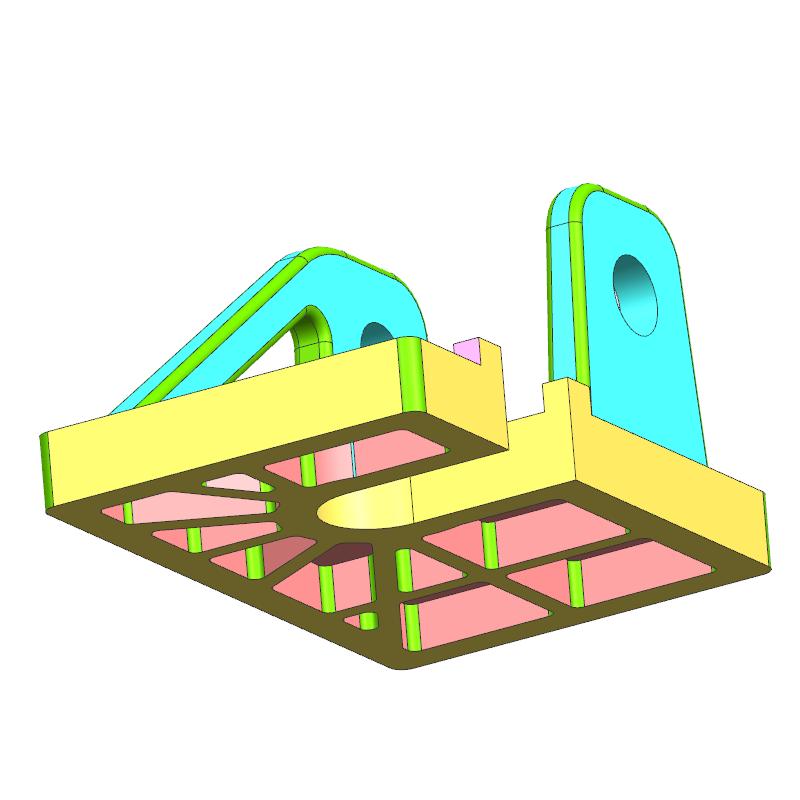 铸钢底盘案例(教学课程、3D数模、精讲PPT、工程图)