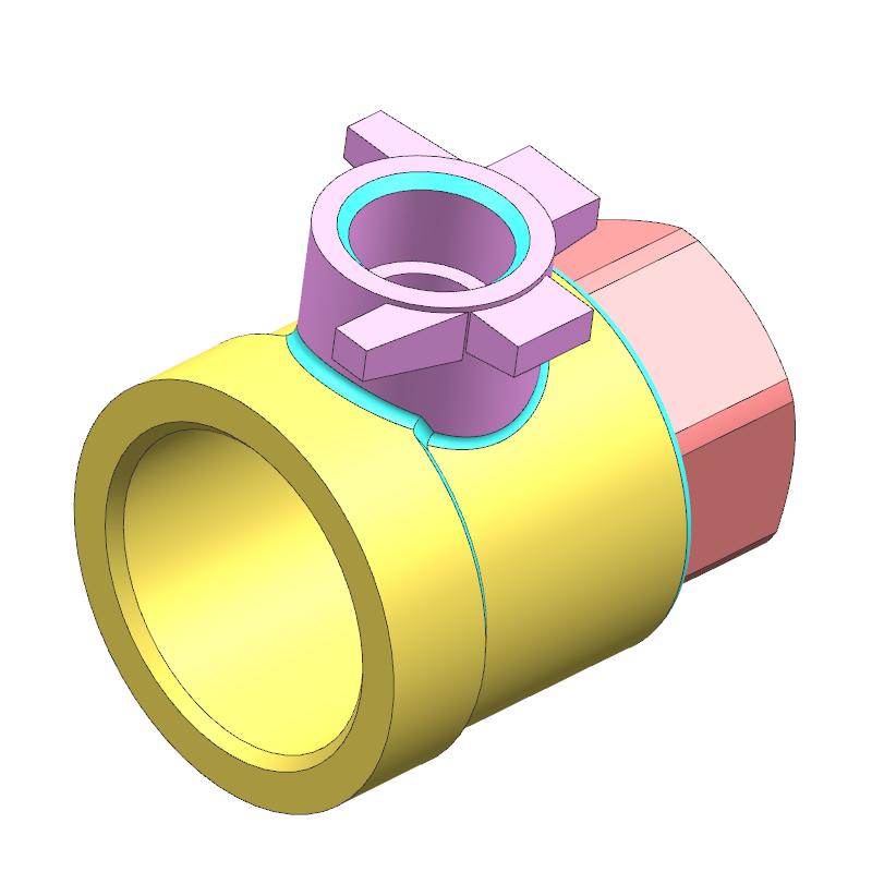 阀体案例(教学课程、3D数模、精讲PPT、工程图)
