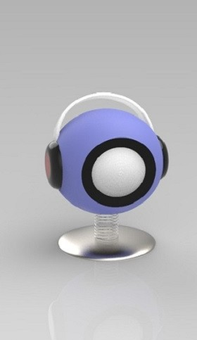 耳麦造型蓝牙音箱